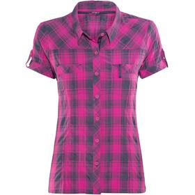Bergans Leknes Kortærmet T-shirt Damer pink/blå